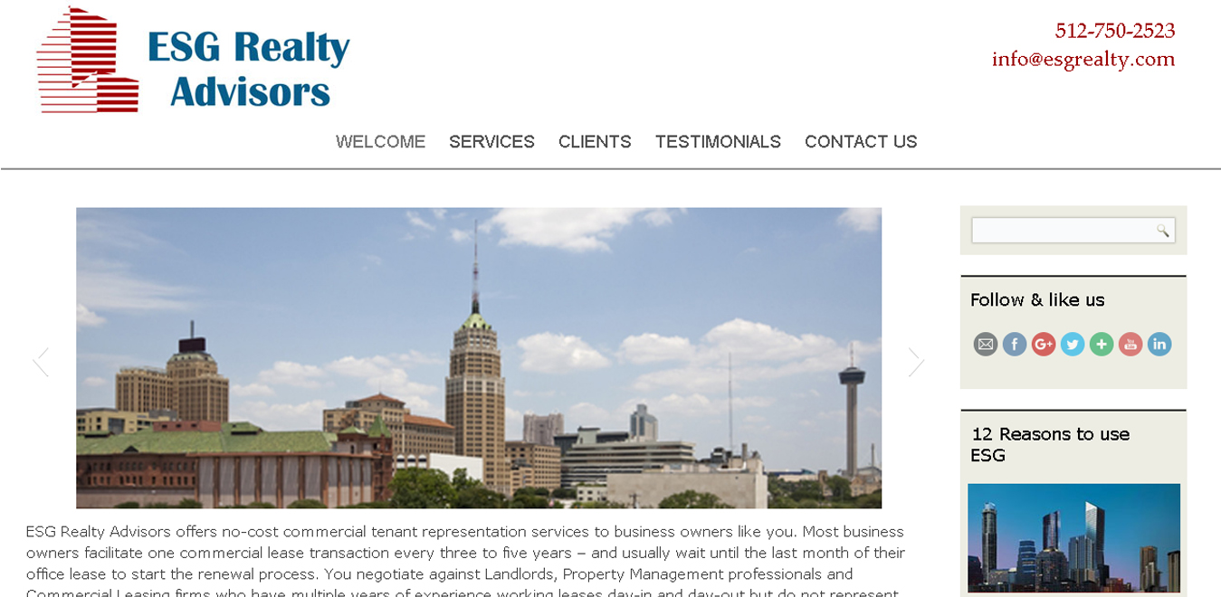 ESG Realty – Commerical Real Estate in Austin  Dallas  San Antonio and Ft. Worth